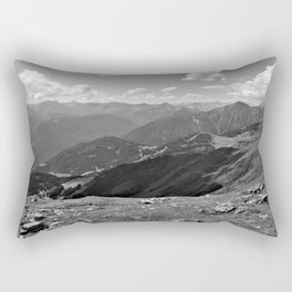 panorama on adventure park hög alps serfaus fiss ladis tyrol austria europe black white Rectangular Pillow