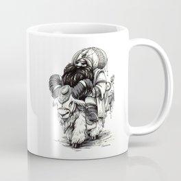 """Inktober 2017 #2 """"Dwarf on the Ram"""" Coffee Mug"""