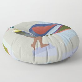 Bird, Discobolus V Floor Pillow