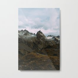 Alaskan Summer Nights in the Alpine Metal Print
