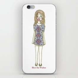 blow the wishes iPhone Skin