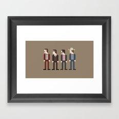 Anchorman 8-Bit Framed Art Print