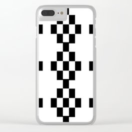 Let the pixels dance! Clear iPhone Case