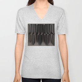 Industrial Waves   Metal Abstract  Unisex V-Neck