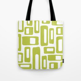 Retro Mid Century Modern Abstract Pattern 336 Chartreuse Tote Bag