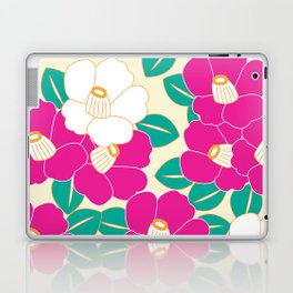 Japanese Style Camellia - Pink and White Laptop & iPad Skin