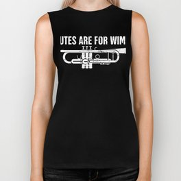 Flutes Are For Wimps | Trumpet Marching Band Biker Tank