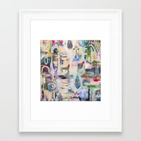 flora bowley Framed Art Prints featuring Fathom Original Painting by Flora Bowley by Flora Bowley