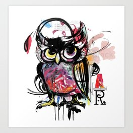 art owl Art Print