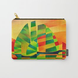 Chinese Junks, Sunset, Sails and Shadows Carry-All Pouch