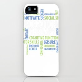 RT Words - Recreational Therapy Shirt for RT Month Gift iPhone Case
