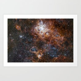 Tarantula Nebula in the Large Magellanic Cloud Art Print