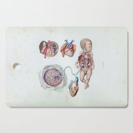 Vintage Anatomy of a Human Infant in Womb Cutting Board