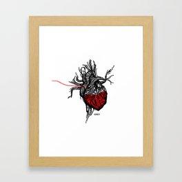 Wired Heart Framed Art Print