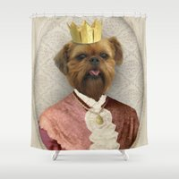 brussels Shower Curtains featuring Queen of Brussels by The Lonely Pixel