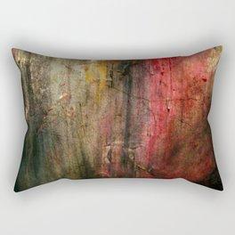 Fall Abstract Acrylic Textured Painting Rectangular Pillow