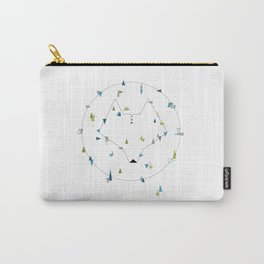 wolf. geometric Carry-All Pouch