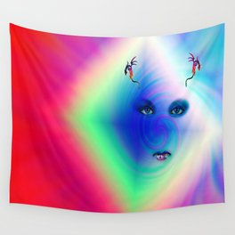 """""""Her Floating Eyes"""" by surrealpete Wall Tapestry"""