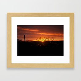 Midnight Sun. Framed Art Print
