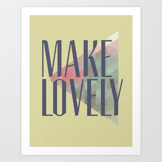 Make Lovely // Leaf Art Print