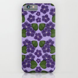 Violets are purple Floral Pattern Blossoms iPhone Case
