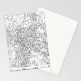 Rome Map Line Stationery Cards