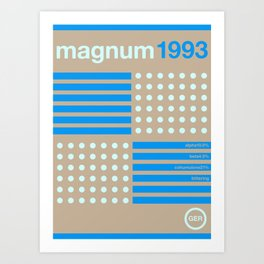 magnum single hop Art Print