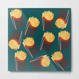 Supersized Fries Metal Print