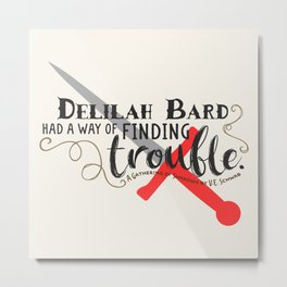 Finding Trouble (original) Metal Print