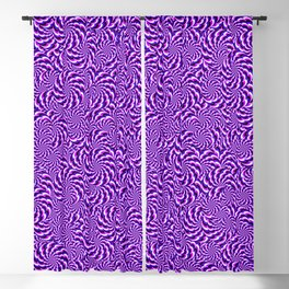 Trippy Purple and Pink Pinwheels Blackout Curtain