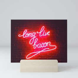 LONG LIVE BACON Mini Art Print