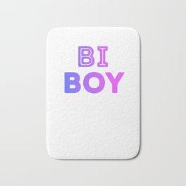 Bi Boy LGBT Equality Bisexual Pride Flag Colors Bi Pride Cool Humor Design Pun Gift Bath Mat