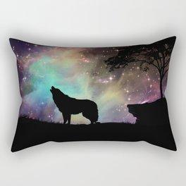 Galaxy wolf | Wolf | Powerful wolf | Wolf love | Wolfsbane | Lycan Rectangular Pillow