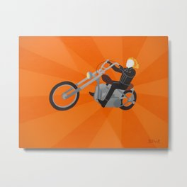 Ghost Rider Simplified Metal Print