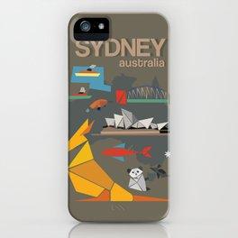 Sydney Australia Poster Version II iPhone Case