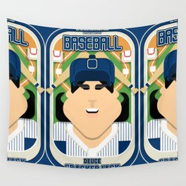 Baseball Blue Pinstripes - Deuce Crackerjack - Amy version Wall Tapestry