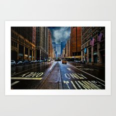 Rain On Park Avenue Art Print