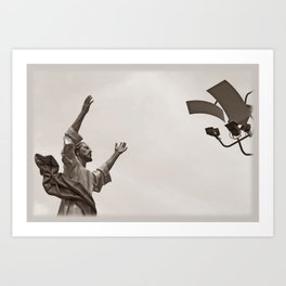 Let there be light. Art Print