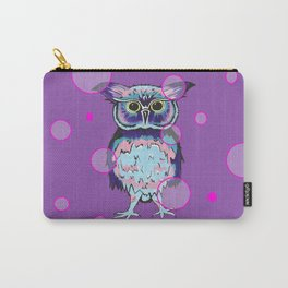 Owl Purple Bubbles Carry-All Pouch
