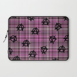 pink  plaid anarchy Laptop Sleeve