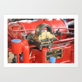 Titan Engine - International Harvester Corporation. Chicago USA Art Print