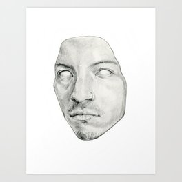 Face mask Art Print