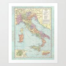 Vintage Italy Art Print