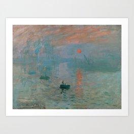 Monet - Impression, Sunrise, 1872 Art Print