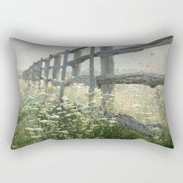 Rustic Fence Rectangular Pillow