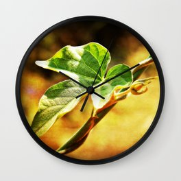 The Twisted Vine Wall Clock