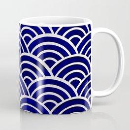 Japanese Seigaiha Wave – Navy Palette Coffee Mug