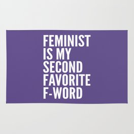 Feminist is My Second Favorite F-Word (Ultra Violet) Rug