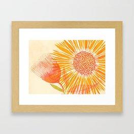 Bright Sunflower Framed Art Print