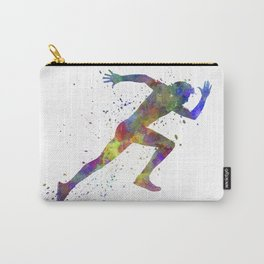 Man running sprinting jogging Carry-All Pouch
